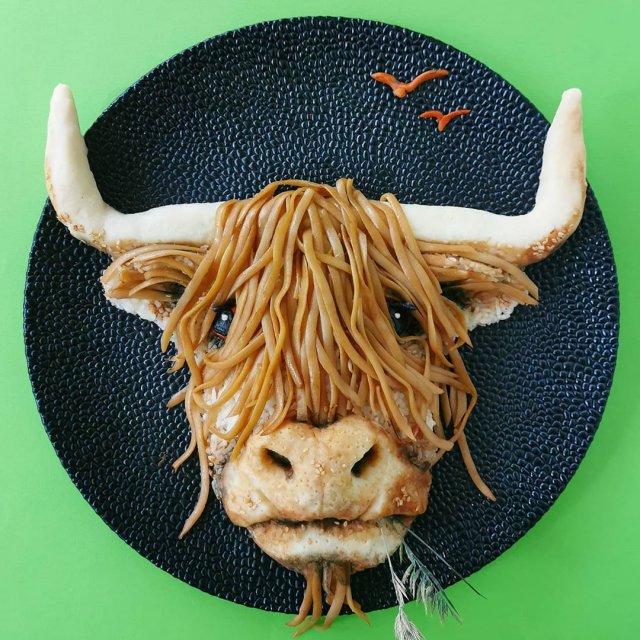 Йоланда Стоккерманс приготовила блюдо в виде буйвола