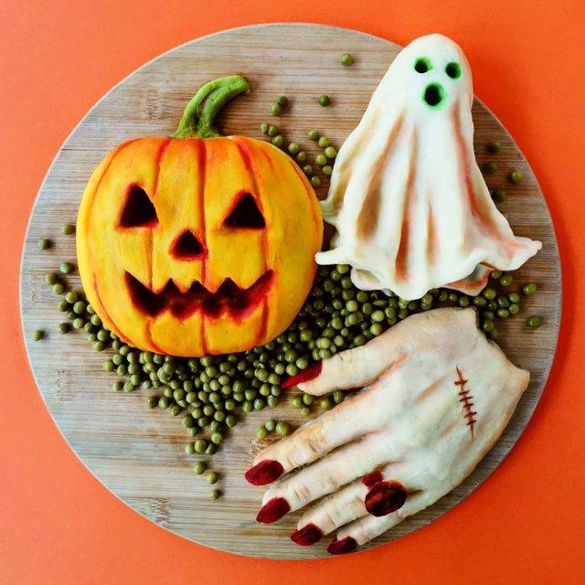 Йоланда Стоккерманс приготовила блюдо в виде тыквы из Хеллоуина