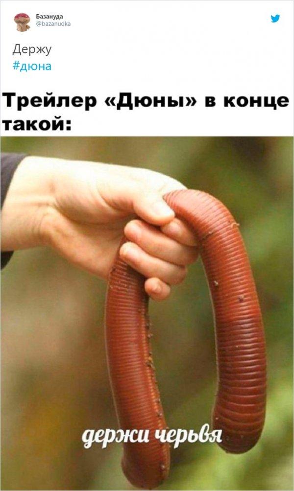 мем про червя из дюны