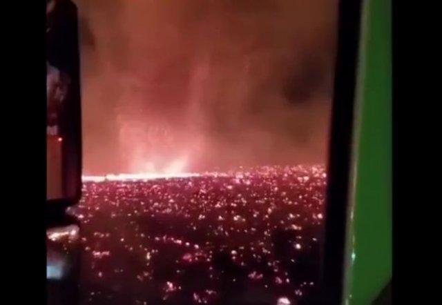 Огненный торнадо в Калифорнии