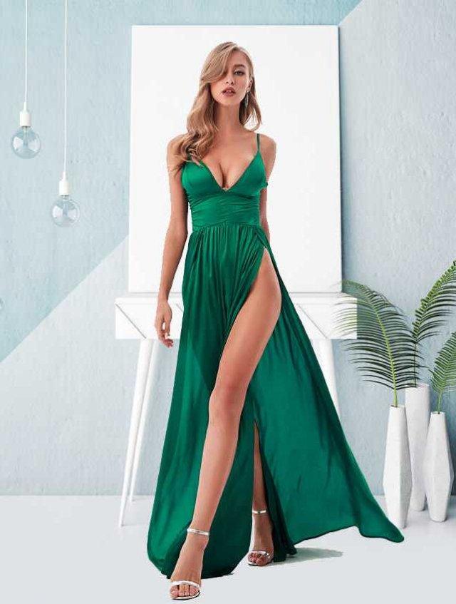 Платья с высокими разрезами. Часть 7