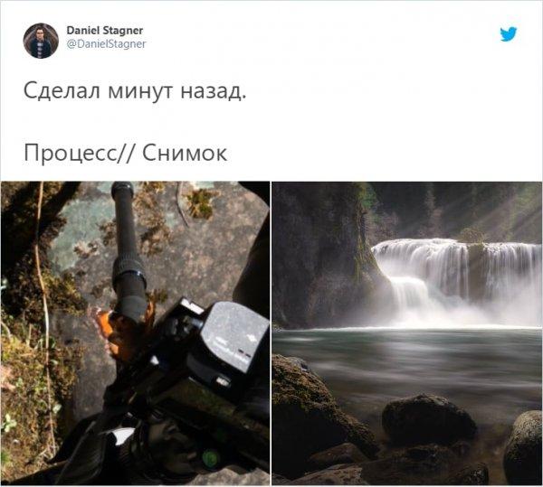 съемка водопада