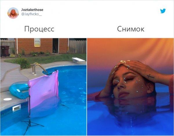 съемка в бассейне