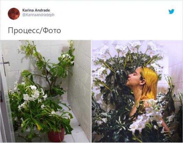 съемка с цветами