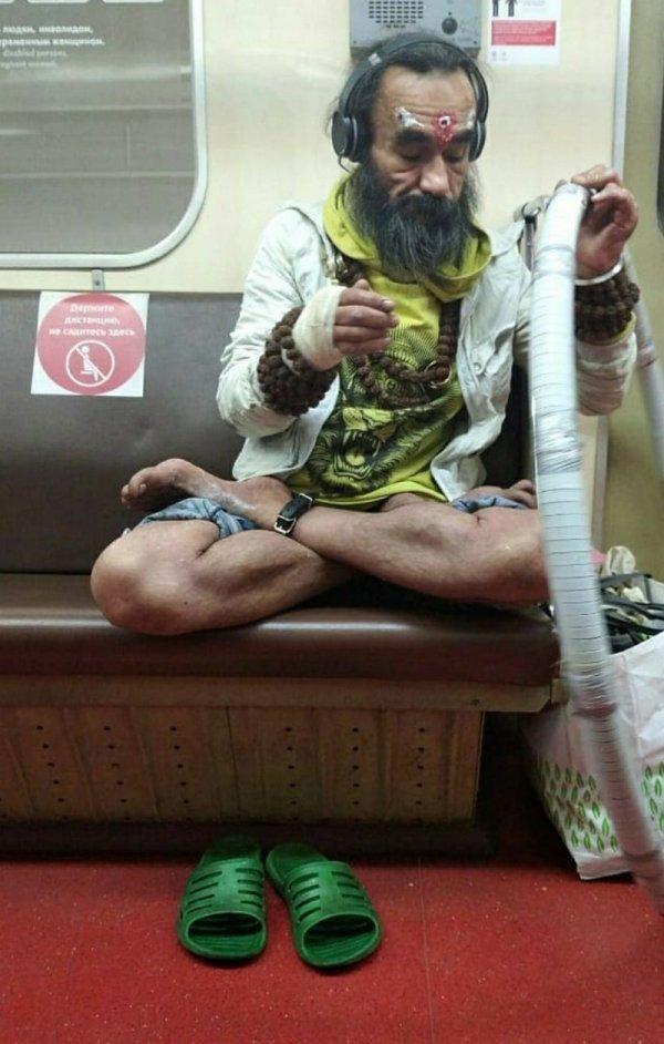 йог в метро
