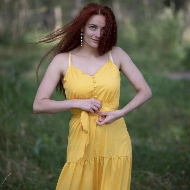 "Анастасия Шульженко - любовница Сергея ""Тарзана"" Глушко в желтом платье"