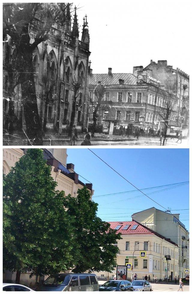 3-я линия В.О.Лютеранский Михайловский собор.1981 и 2020 год.