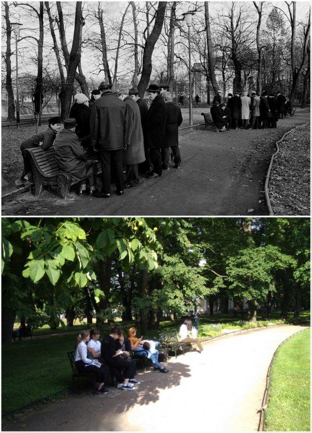 Михайловский Сад, шахматисты1980-е и 2020 год.