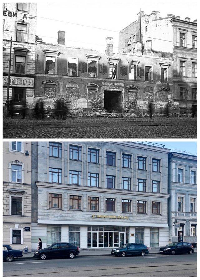 Улица 3-его июля/Садовая улица, 79~1925 и 2020 год.