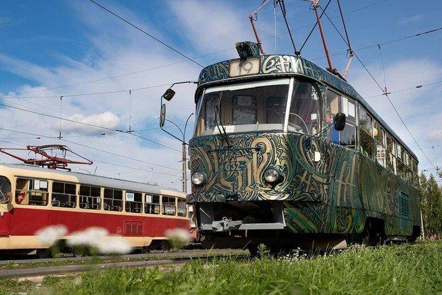 Трамвай на фестивале STENOGRAFFIA