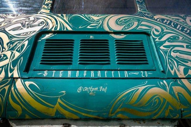 Трамвай на фестивале STENOGRAFFIA воздухоотвод