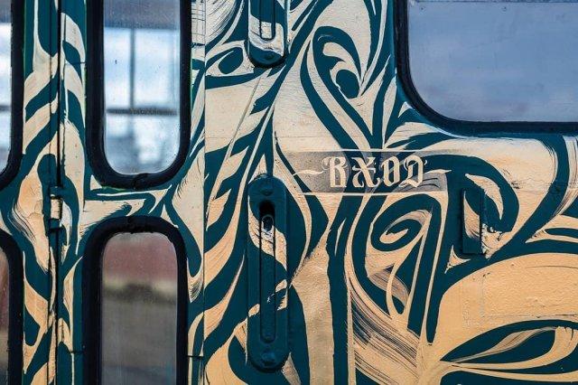 Трамвай на фестивале STENOGRAFFIA дверь