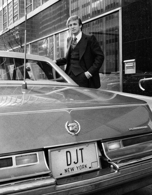 Такой маленький, а уже Трамп. Нью–Йорк, 1976 год.