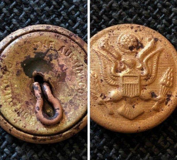 пуговица от униформы офицера армии США
