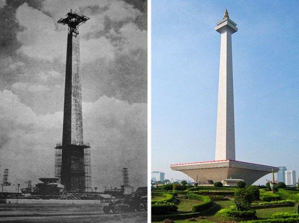 Национальный памятник в Джакарте, Индонезия