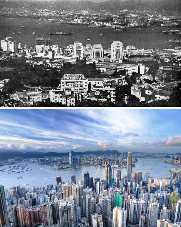 Гонконг в 1960-х годах и сейчас