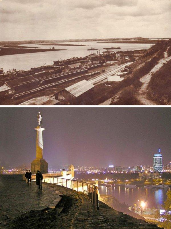 Строительство набережной на реке Сава, Белград