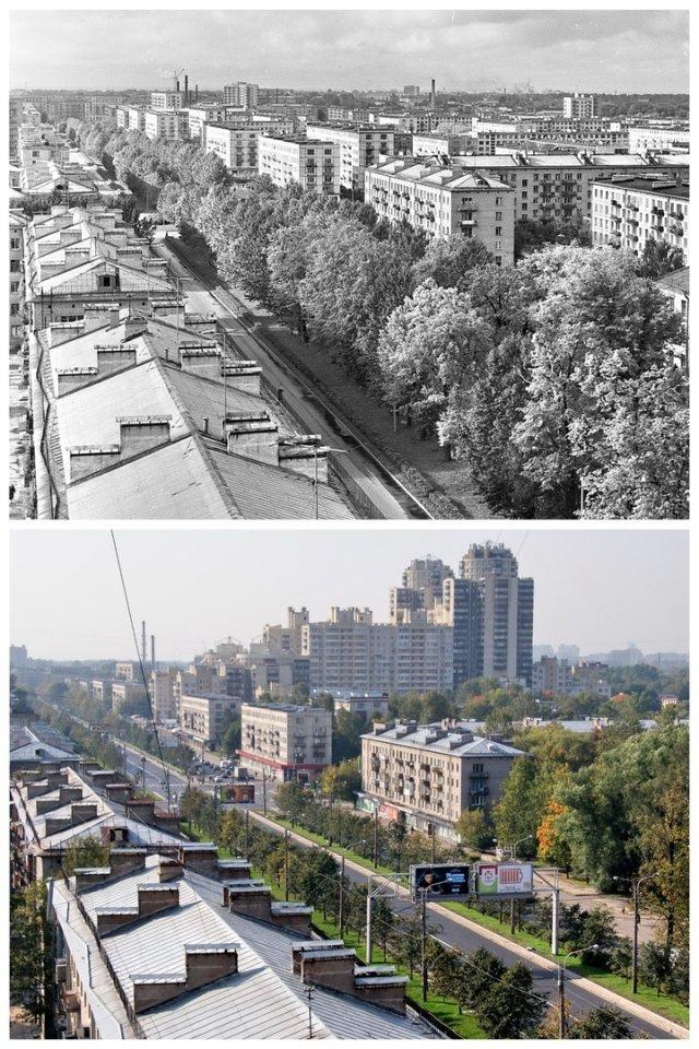 Ланское шоссе.1969 и 2019 год.