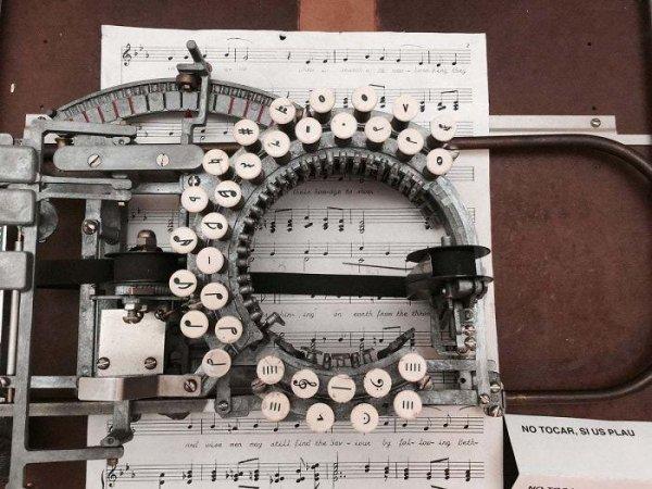 Печатная машинка для нот