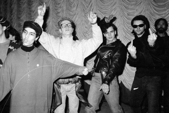 Участники питерского рейва, 90-е.