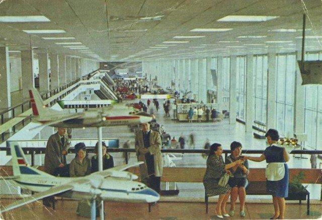 В аэровокзале, 1970–е годы, Москва