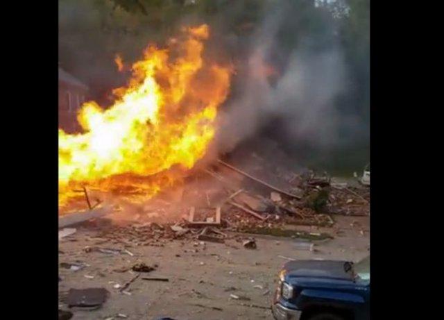 Последствия взрыва соседского дома