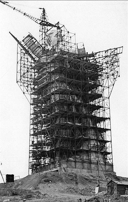 Строительство скульптуры Родина–мать, 1966 год, Волгоград