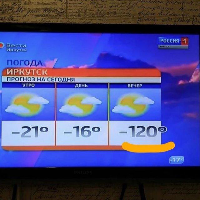 Ошибка в прогнозе погоды
