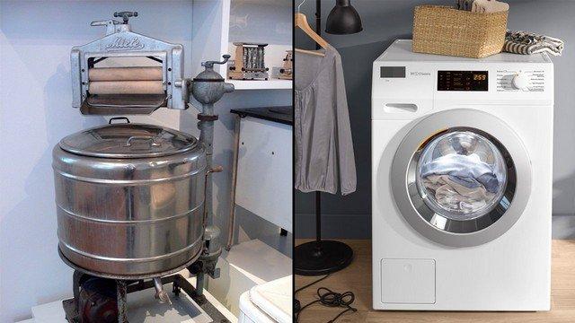 Активаторная машина 1950-х годов и современные стиралки