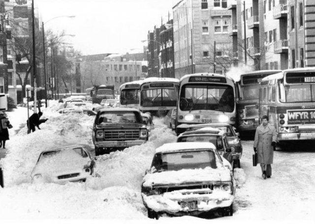 После снегопада, 1979 год, Чикаго, США