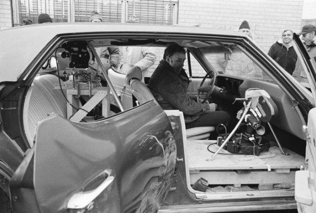 Джин Хэкмен на съемках х/ф «Французский связной», ок. 1971 года, США