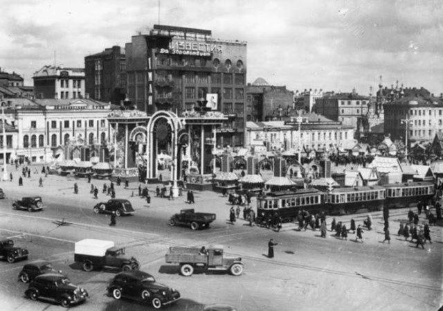 Пушкинская площадь, Москва, 1940 год