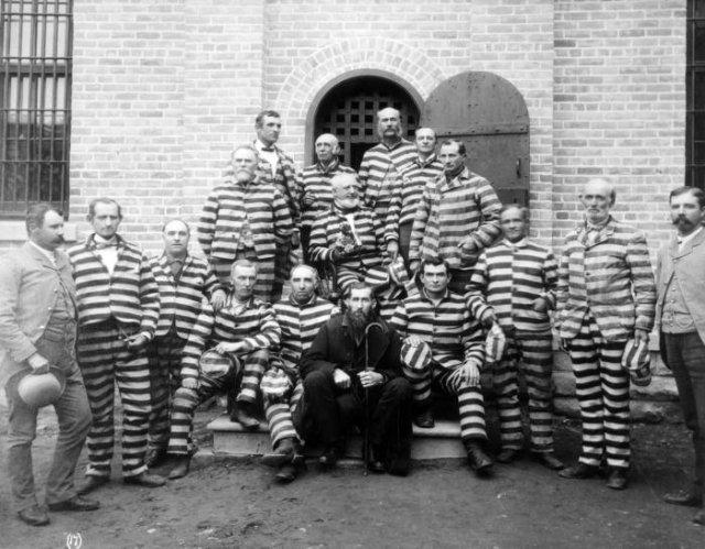 Арестованные мормоны–многоженцы после принятия закона Эдмунда–Такера, 1887 год, США