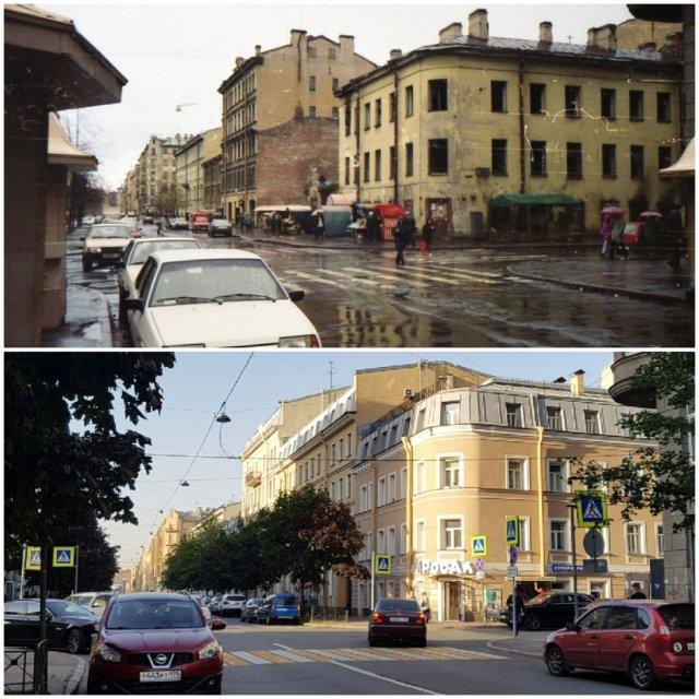 Угол Английского пр. и ул. Канонерской (Канонерская, 25)1998 и 2020