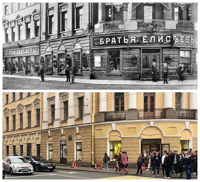 Торговое товарищество «Братья Елисеевы», отделение на Садовой, 38.1913 и 2020 год.
