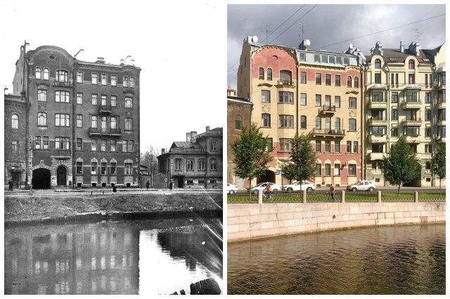 Набережная Карповки, 25.~1939 и 2020 год.