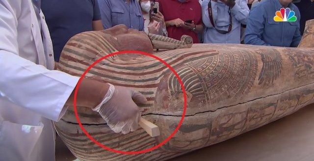 Саркофаг с 2500-летней мумией  новые данные