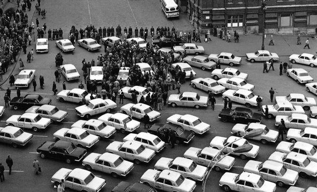 Акция протеста московских таксистов, 28 октября 1991 года, СССР