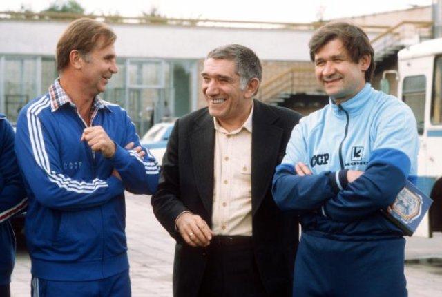 Виктор Тихонов, Армен Джигарханян и Владимир Юрзинов, 1984 год, Новогорск