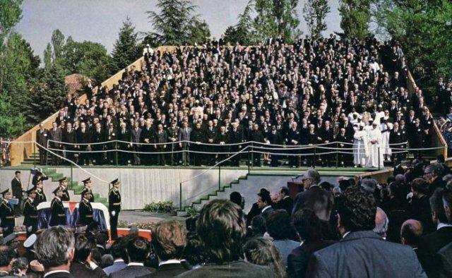 4 монарха, 31 президент, 6 принцев, 22 премьер–министра и 47 министров иностранных дел на похоронах Иосипа Броза Тито, 08.05.1980, Югославия