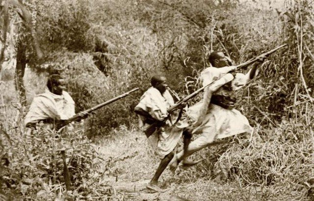 Атака абиссинской пехоты, 1936 год, Эфиопия