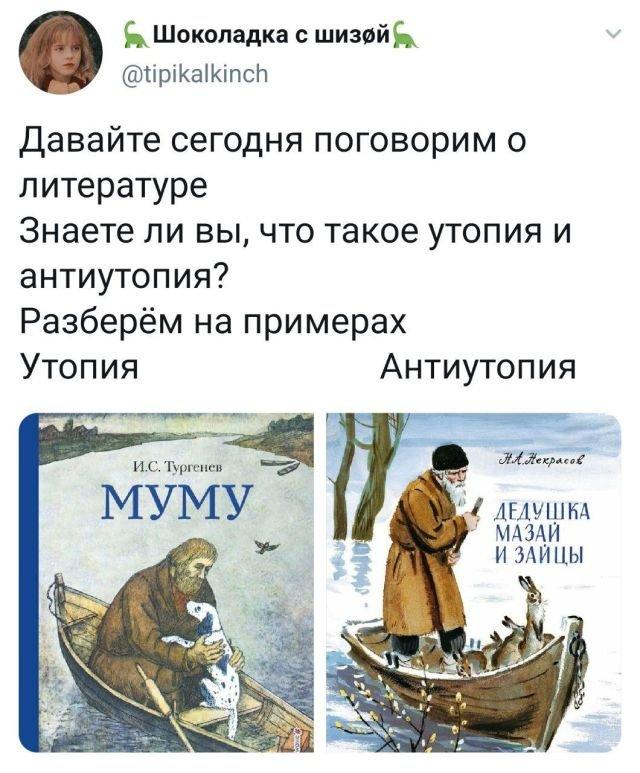 твит о литературе