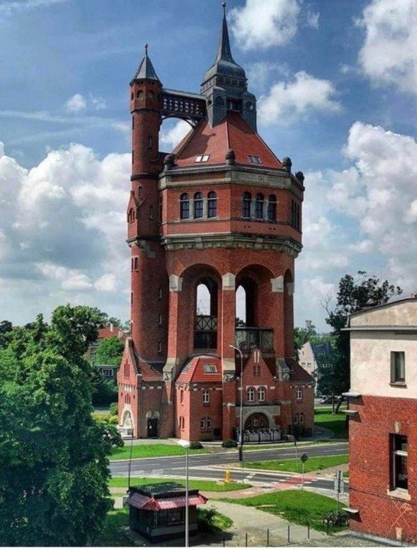 Польская водонапорная башня