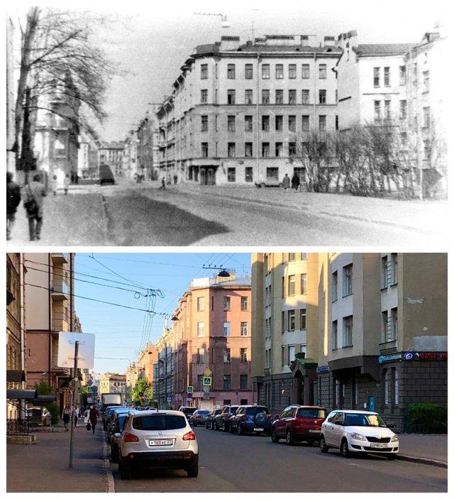Дегтярная улица.1988 и 2020 год.