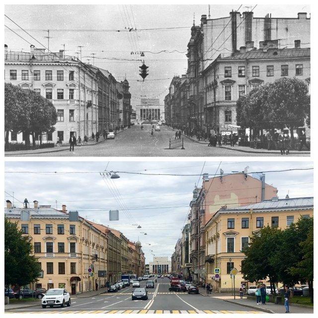 Семёновская площадь.1967 и 2020 год.