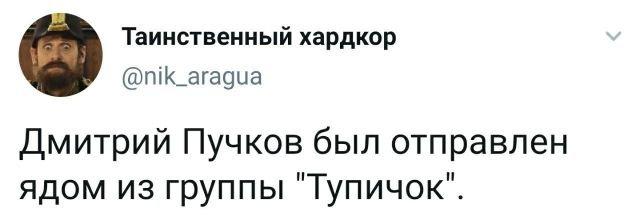 твит про дмитрия пучкова