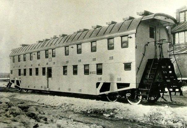 Двухэтажный вагон поезда в Российской империи, 1905 год.