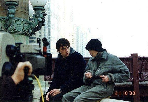 Сергей Бодров и Дарья Лесникова на съёмках фильма «Брат 2». США, 1999 год.