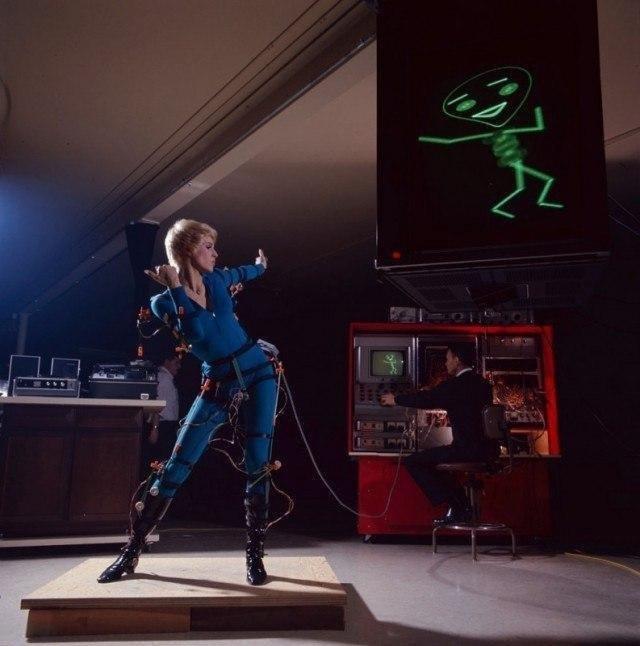 Съемка анимаци, методом Motion capture (захват движения), 1969 год, Лос–Анжелес.