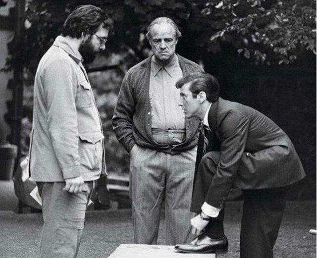 На съемках фильма «Крестный отец». 1972 г.